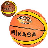 Мяч баскетбольный VA 0058 (30шт) размер7, резина, 12панелей, 2цвета, 580-600г,в кульке