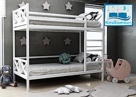 Двухъярусная деревянная кровать Хатико 80х190см МегаОпт