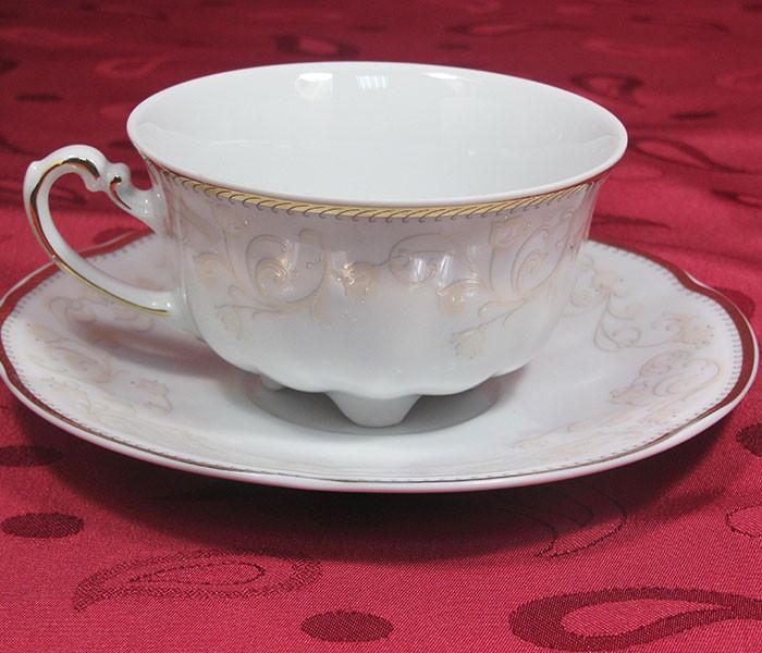 Набор чашек с блюдцами Cmielow Bolero 377  на 6 персон 12 предметов (5024)