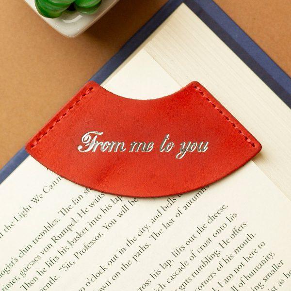 """Закладка для книги из натуральной кожи """"FROM ME TO YOU"""""""