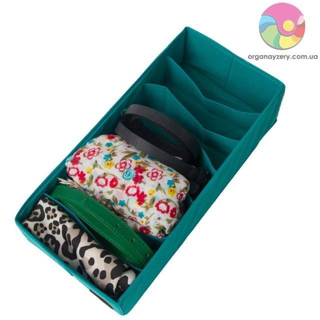 Коробочка для зберігання шкарпеток/колгот/ременів (блакить)