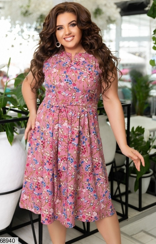 Летнее женское платье большого размера Размеры: 48-50,52-54,56-58