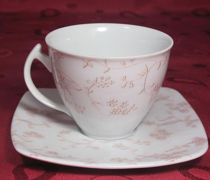 Набор чашек с блюдцами Cmielow Akcent 181  на 6 персон 12 предметов  (5290)