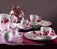 Набор тарелок в цветочке на 6 персон Quebec 968