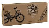 Велосипед детский двухколесный 16 Фиолетовый, CORSO CL-16, 4-6 лет, боковые колеса, ручной тормоз, багажник, фото 4
