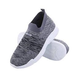 💥 Текстильні легкі сірі кросівки унісекс, розміри 37 (24 см) + 💥 ВІДЕООГЛЯД!
