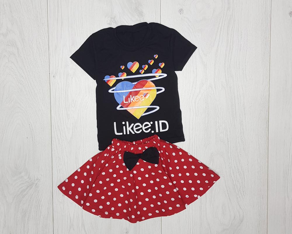 Комплект летний футболка с юбкой Likee