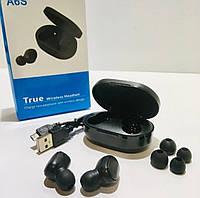 🔝 Беспроводные наушники (вкладыши) с гарнитурой  TWS A6S  Bluetooth 5.0 с шумоподавлением Черные A