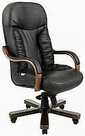Офисное Кресло Руководителя Richman Буфорд Флай 2230 Wood Люкс Венге М2 AnyFix Черное