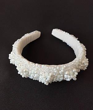 Обруч-ободок для волос Ksenija Vitali Wedding White OB-0008, фото 2