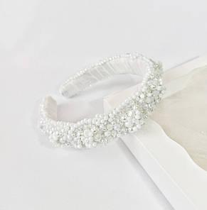 Обруч-ободок для волос Ksenija Vitali Wedding White OB-0008, фото 3