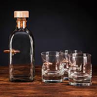 Набор для виски Gun&Fun (графин + 3 стакана)