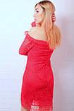 Красное гипюровое платье нарядное, фото 2