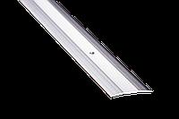 Пороги алюминиевые 22А 0,9 метра серебро 5х60мм