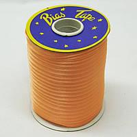 Косая бейка Super 3110 атласная 1.5 см х 100 м Оранжевая Bios-3110, КОД: 1314925