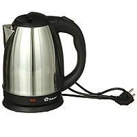 Электрочайник дисковый металлическийк Domotec 1.8 л чайник электрический (електрочайник, чайник електричний), фото 1