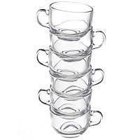 Кофейный сервиз стеклянный A-PLUS 12 предметов на 6 персон (чайний сервіз скляний), фото 1