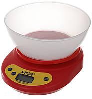 Весы кухонные электронные настольные с чашей A-PLUS (ваги кухонні електронні настільні з чашею), фото 1