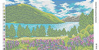 Схема для вышивания бисером ''Долина васильков'' А3 29x42см