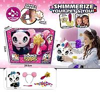 """Мягкая игрушка интерактивная Shimmer stars Панда Пикси с аксессуарами 28 см  """"Говорящая панда"""" scn"""