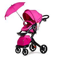 Универсальная коляска 2в1 DSLAND V8 Black-Pink Розовый  DSV8BP, КОД: 1286879