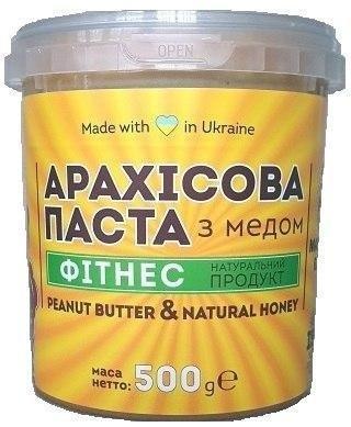 Арахисовая паста Master Bob - Фитнес с медом (500 грамм)