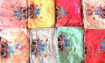 """Красивая футболка  для девочки """"Сова"""" (от 5 до 8 лет), фото 2"""
