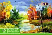 Альбом для малювання А4, 40 аркушів, 100 г / м2, клеєний блок