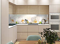 Наклейки кухонный фартук  Zatarga Белая орхидея  650 х 2500 мм