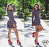 Светлое платье 15873 с красной полосой