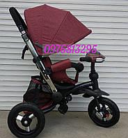 Детский трехколесный велосипед Crosser T-350  ECO AIR NEW ведосипед-коляска для девочки