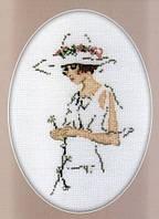 Набор для вышивки RTO R291 Дама с цветком