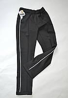 Детские классические школьные брюки для девочек 5-10 лет черного цвета