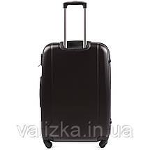 Большой пластиковый чемодан с фурнитурой в цвет темно-серый, фото 3