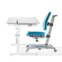 Комплект парта Colore Grey + подростковое кресло FunDesk Primavera II Blue, фото 2