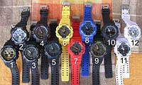 Спортивные часы противоударные водонепроницаемые Casio G-Shock Ga-100 Black Red черные