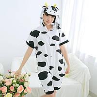 Детская летняя пижама Кигуруми Корова хлопок размер 140 (на рост 130-140 см), фото 1