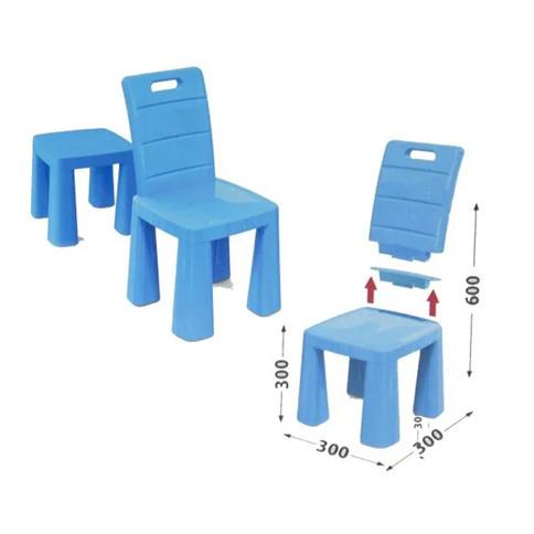 Детский стульчик-табурет синий