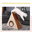 Когтеточка для кошек игровой домик меховой, фото 4
