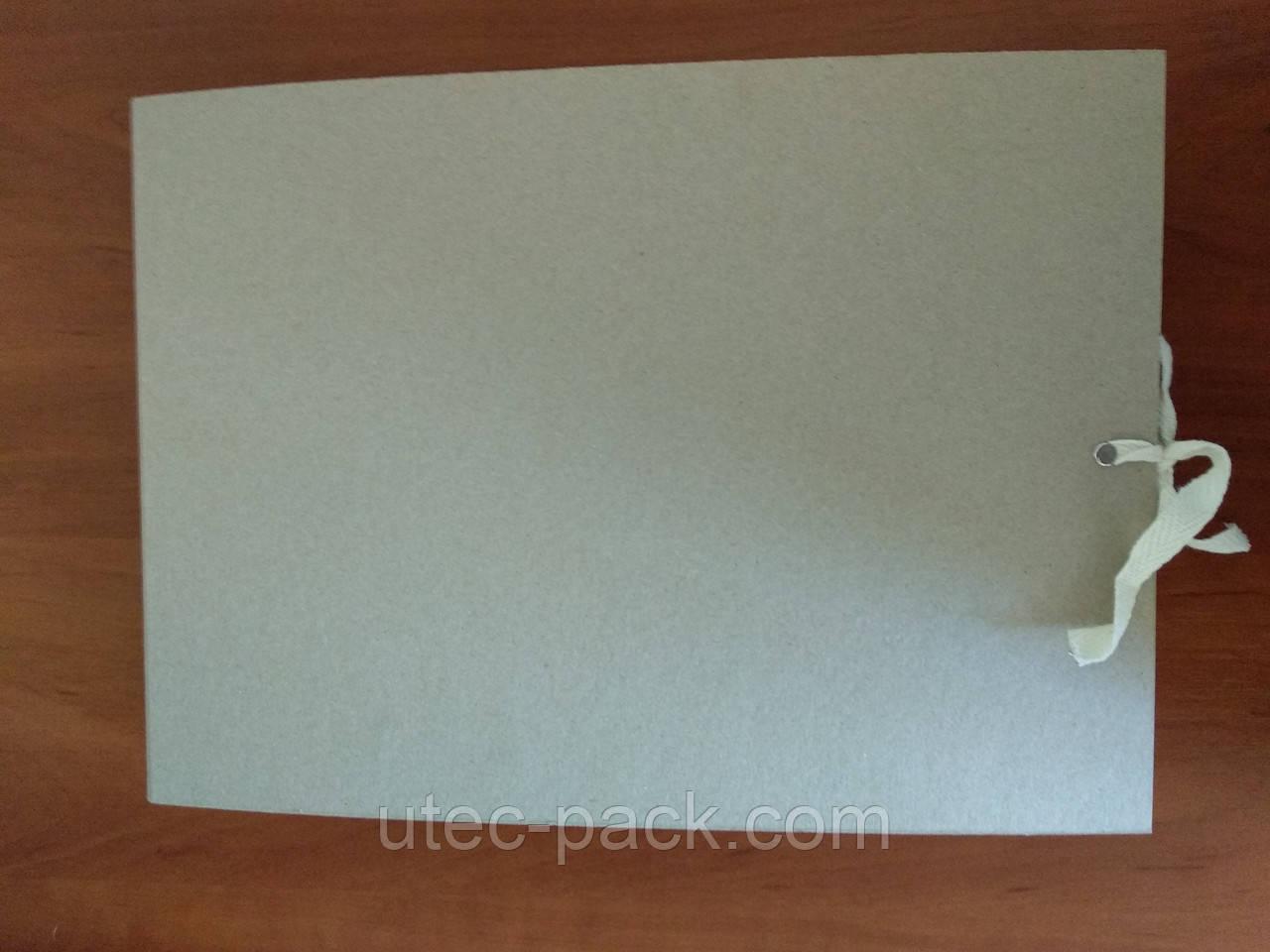 Папка архивная для альбомного хранения документов А4 на завязках, высота корешка 40 мм  без титульной страницы