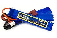 Аккумулятор для страйкбола Giant Power Li-Pol 11.1V 3S 1000mAh 25C 3 лепестка 5.5х20х103мм T-Plug