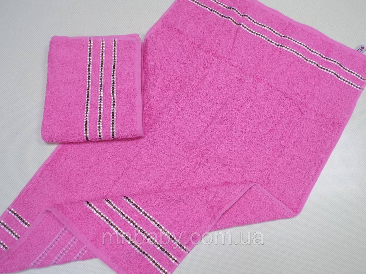 Полотенце махровое Эрмет 50*90 см розовое