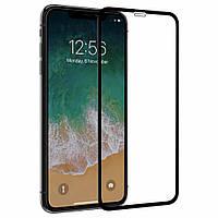 Защитное стекло 4D для iPhone X Black