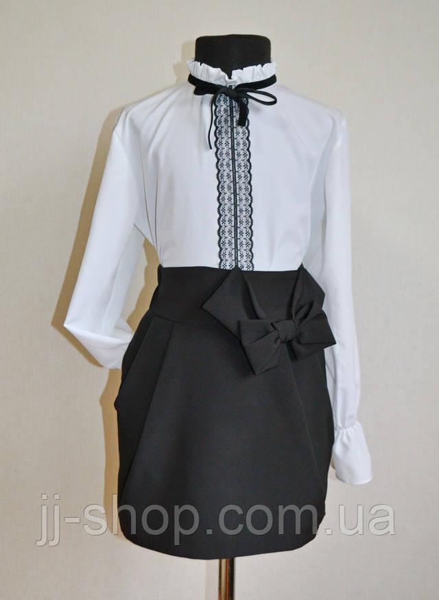 Школьная юбка черного цвета для девочек классическая