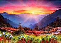 Алмазная вышивка на подрамнике, природа, яркий пейзаж 24х33 см, полная выкладка
