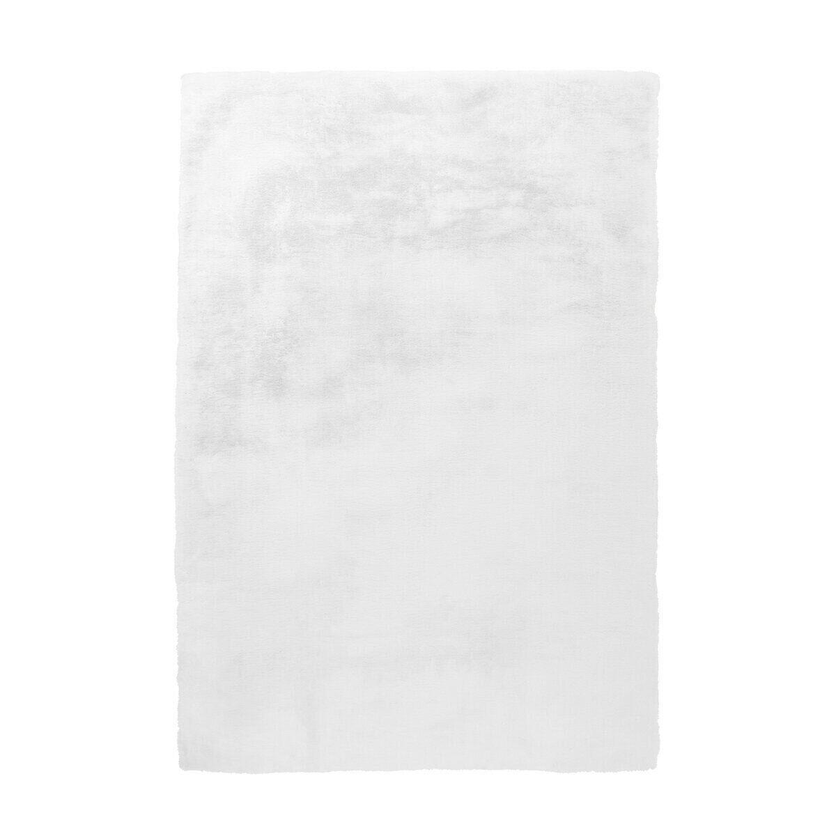 Однотонный очень мягкий ковёр ручной работы, имитирующий мех кролика Rabbit, белый