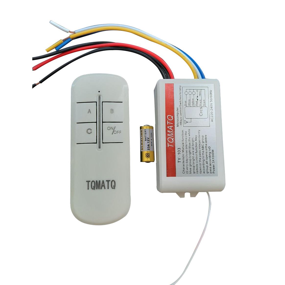 Пульт дистанционный на 3 канала для люстр,светильников и других электроприборов TY-103