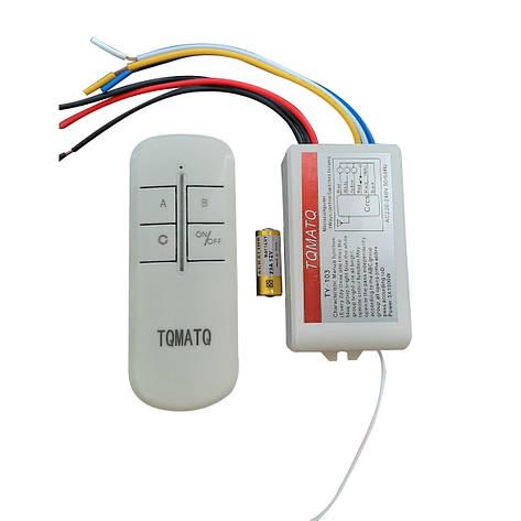 Пульт дистанционный на 3 канала для люстр,светильников и других электроприборов TY-103, фото 2