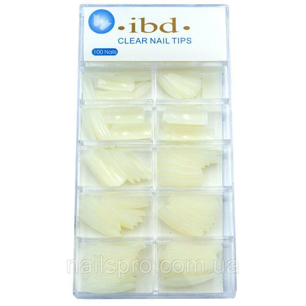 Типсы для наращивания ногтей IBD, 100 штук, бежевые