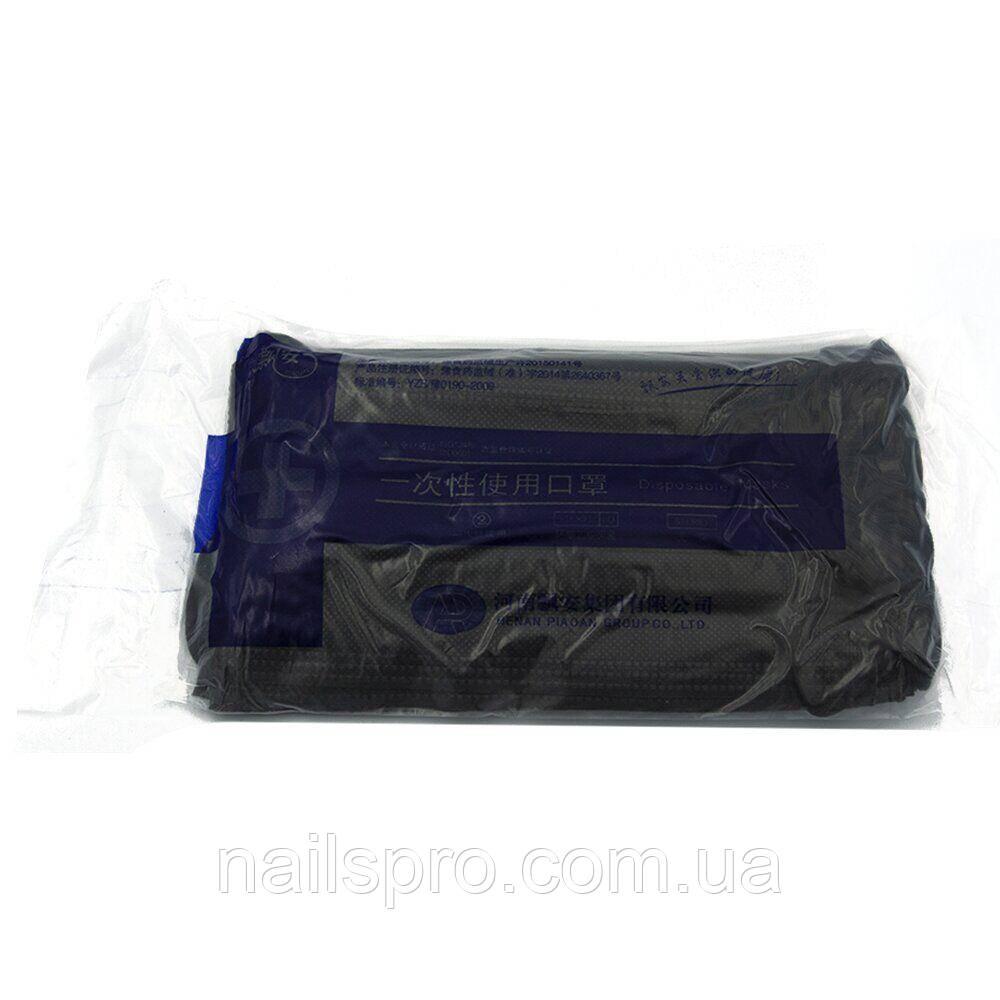 Маска для лица защитная одноразовая 20 шт — Черная